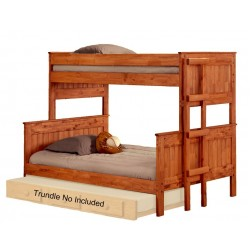 Twin Over Full Stackable Bunk Bed Mahogany Stain